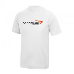 T-Shirt Blanc motif goodbad...