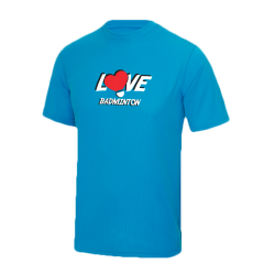 T-shirt Bleu Love Badminton