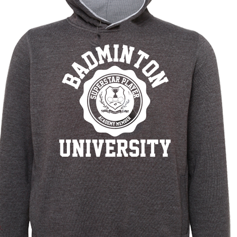 Sweat Gris Anthracite Badminton University à capuche 4a201e03e318